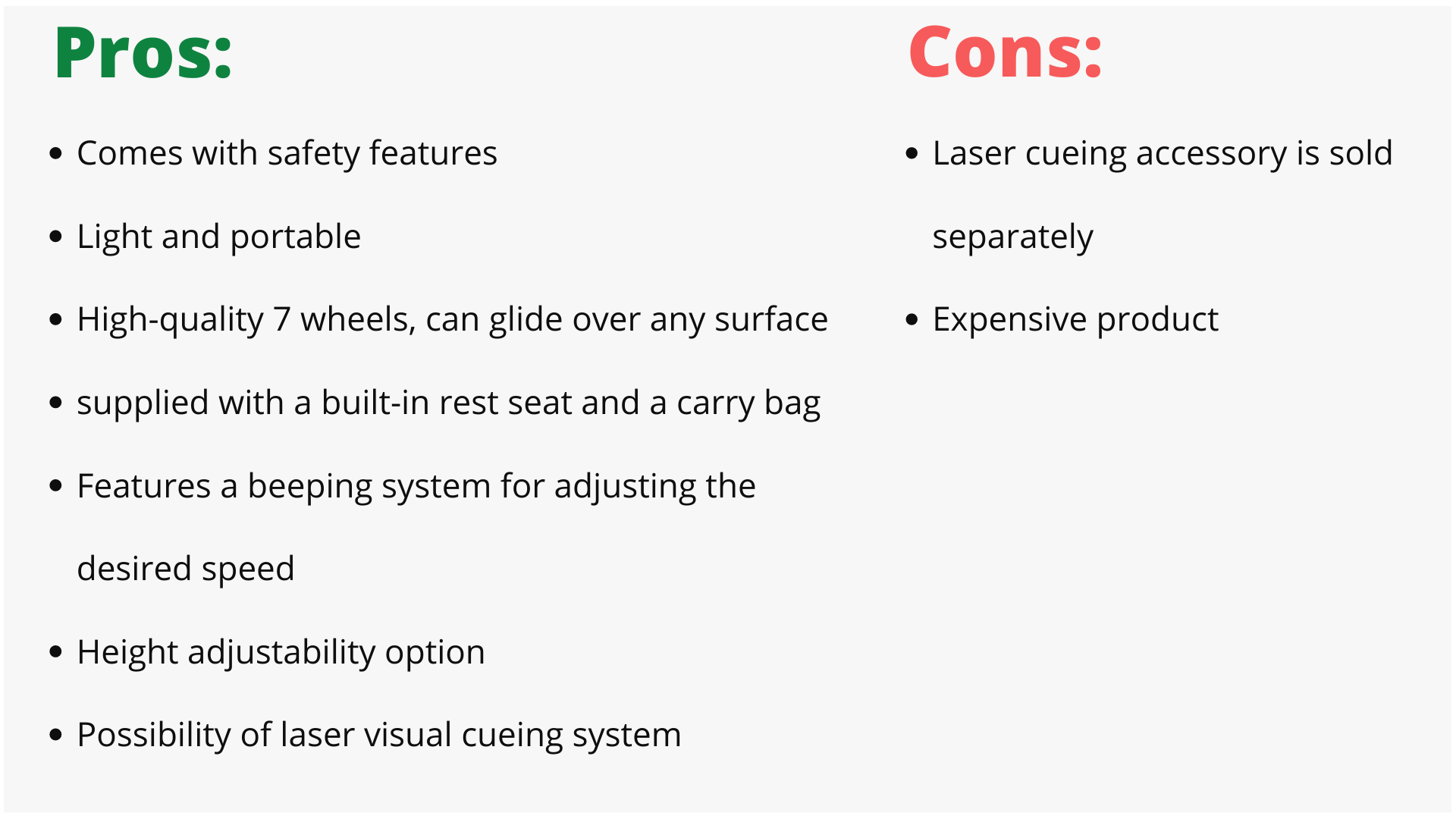 u-step 2 walker pros and cons